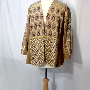 Chico's Size 3 beaded linen jacket